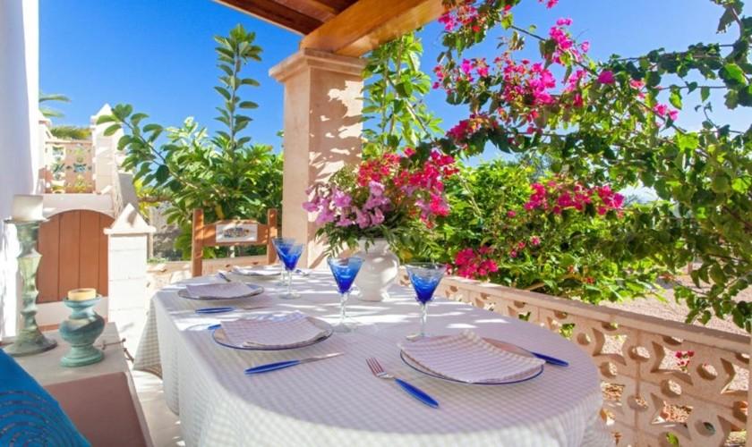 Esstisch Terrasse Ferienhaus Ibiza IBZ 27