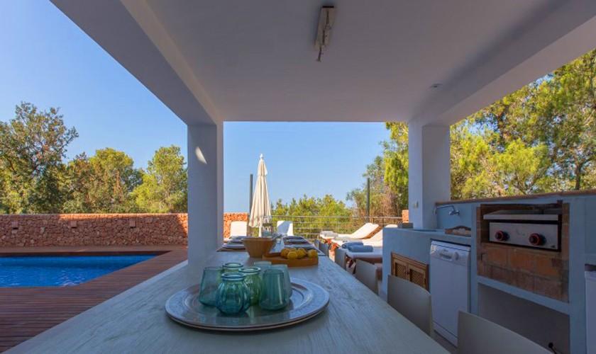 Außenküche Ferienvilla Ibiza 12 Personen IBZ 30
