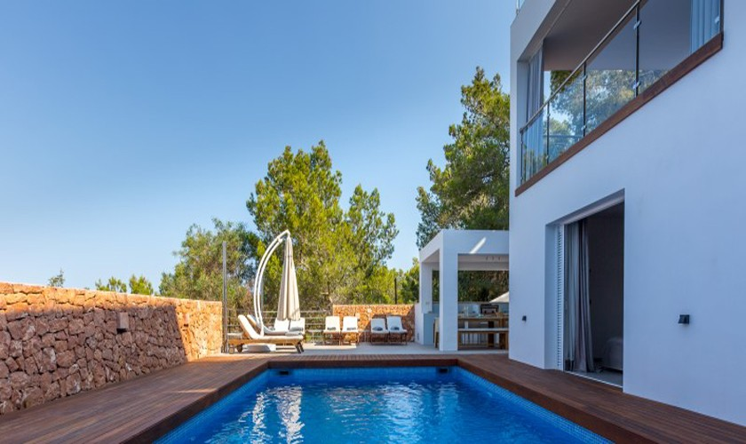 Poolblick Ferienvilla Ibiza 12 Personen IBZ 30