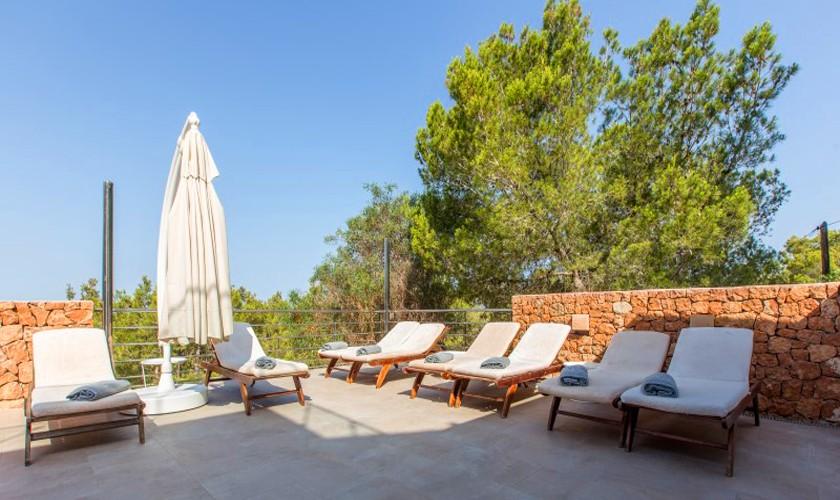 Terrasse Luxusvilla Ibiza 12 Personen IBZ 30