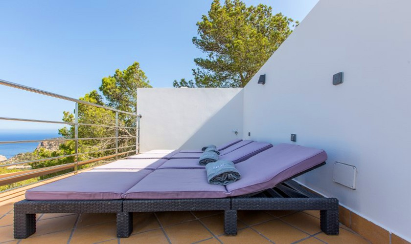 Terrasse Meerblick Luxusvilla Ibiza 12 Personen IBZ 30