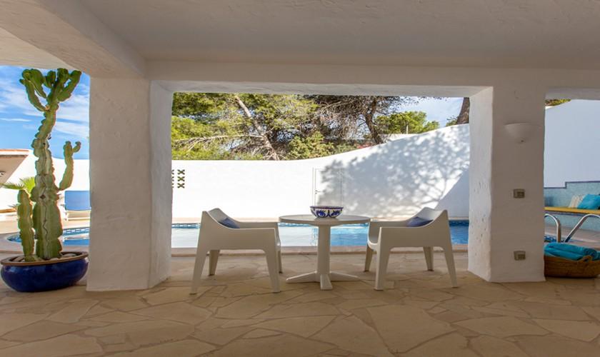 Terrasse Ferienvilla Ibiza Meerblick IBZ 31