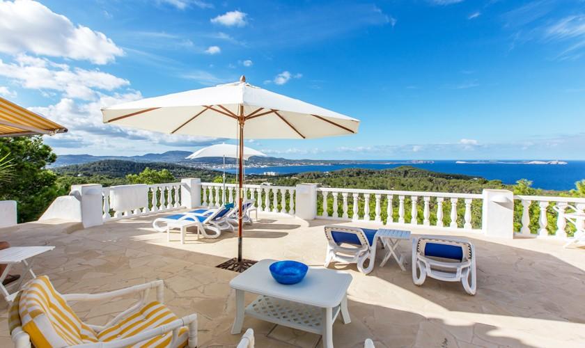 Terrasse und Meerblick Ferienhaus Ibiza IBZ 31