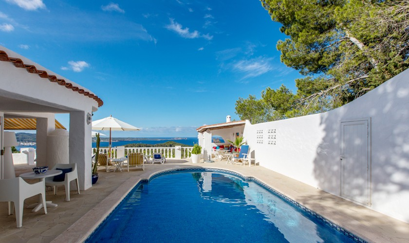 Pool und Meerblick Ferienhaus Ibiza IBZ 31