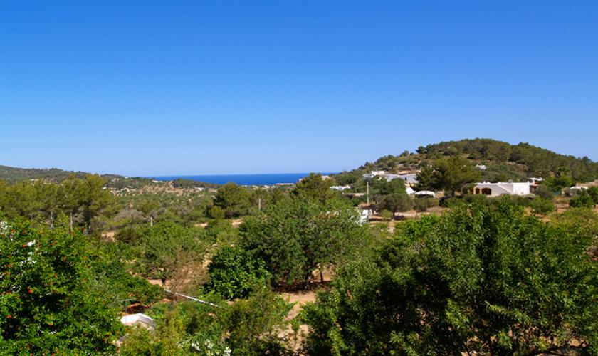Blick von der Finca Ibiza 10 Personen IBZ 35