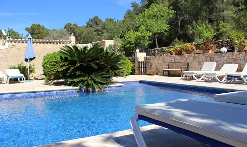 Poolblick Finca Ibiza 10 Personen IBZ 35