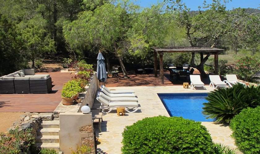 Pool und Terrasse Finca Ibiza IBZ 35