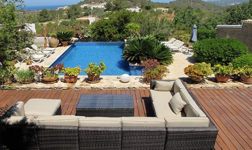 Pool und Poolterrasse Finca Ibiza 10 Personen IBZ 35