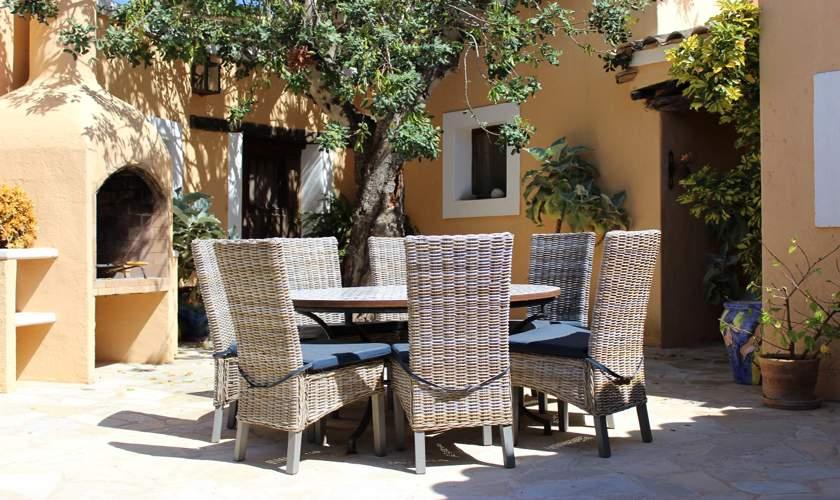 Terrasse Ferienfinca Ibiza IBZ 35
