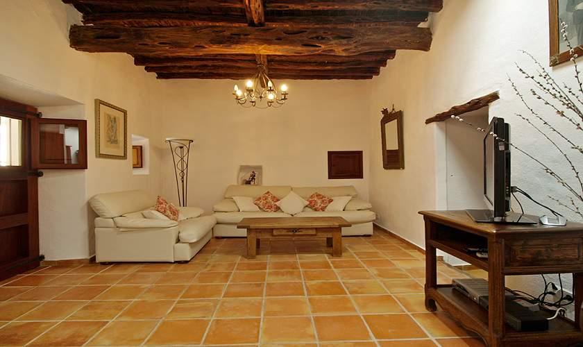 Wohnraum Finca Ibiza 10 Personen IBZ 35