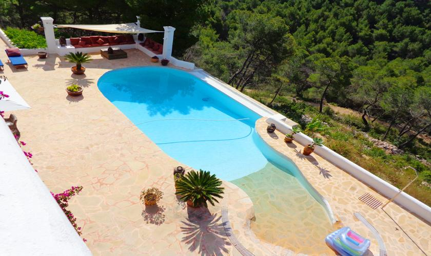 Poolblick Ferienhaus Ibiza 6 Personen IBZ 45