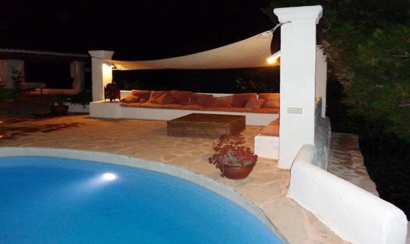 Terrasse bei Nacht Ferienhaus Ibiza 6 Personen IBZ 45