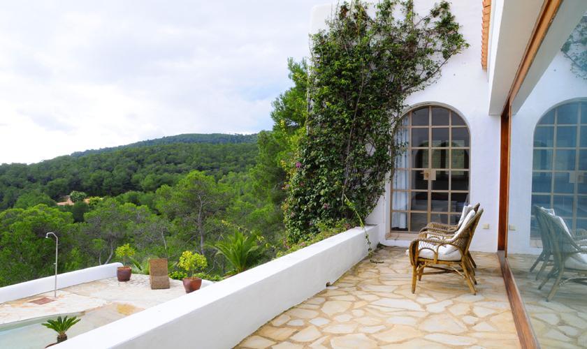 Terrasse oben Ferienvilla  Ibiza für 6 Personen IBZ 45
