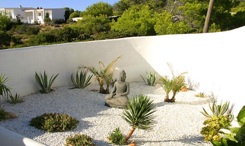 Garten Ferienvilla Ibiza Meerblick IBZ 50