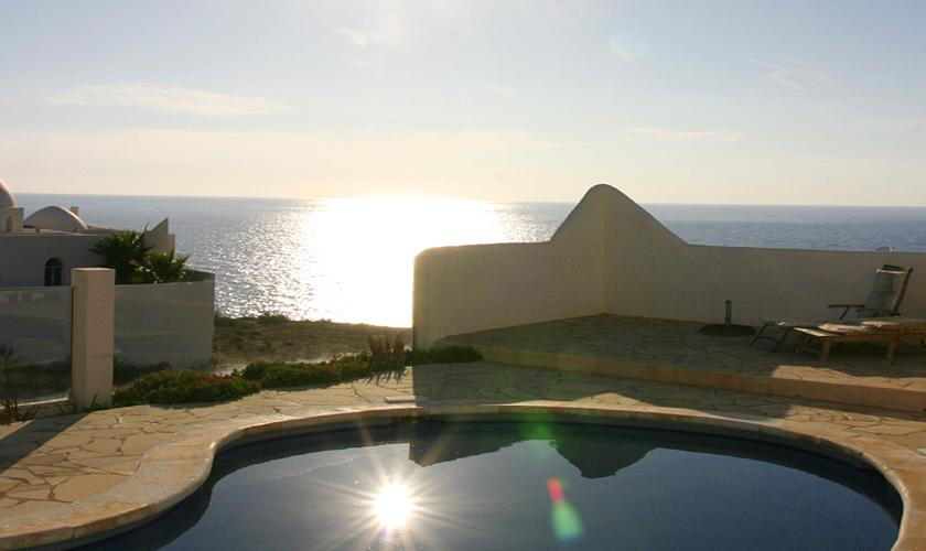 Pool und Meerblick Ferienvilla Ibiza IBZ 50