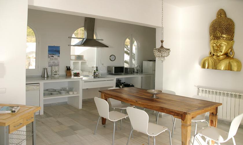Küche Ferienvilla Ibiza Meerblick IBZ 50