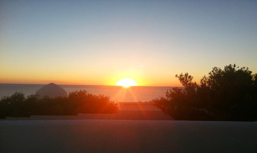 Sonnenuntergang Ferienvilla Ibiza Meerblick IBZ 50