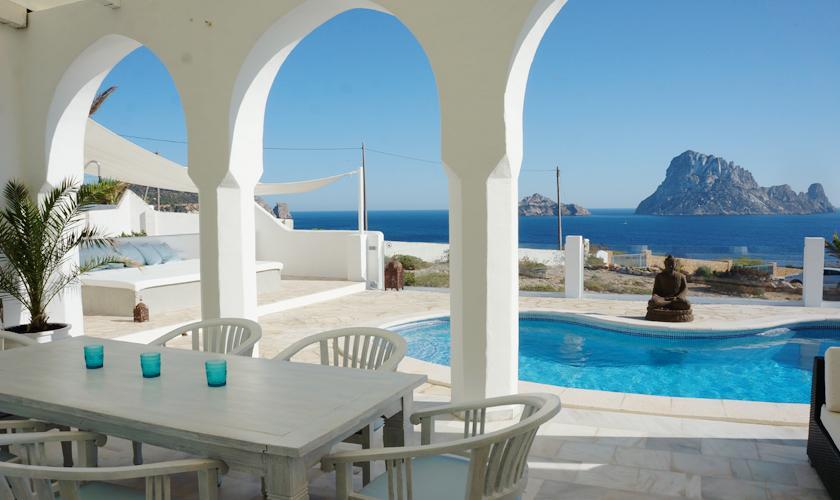 Terrasse, Meerblick und Pool Villa Ibiza IBZ 50