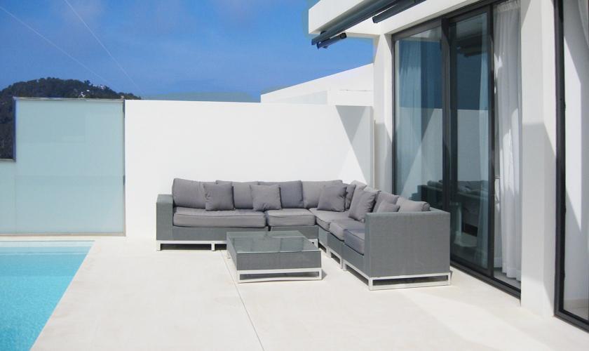 Terrasse und Meerblick Villa Ibiza IBZ 52