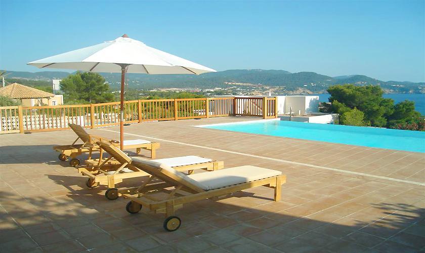 Pool und Meerblick Ferienhaus Ibiza für 6 Personen IBZ 55