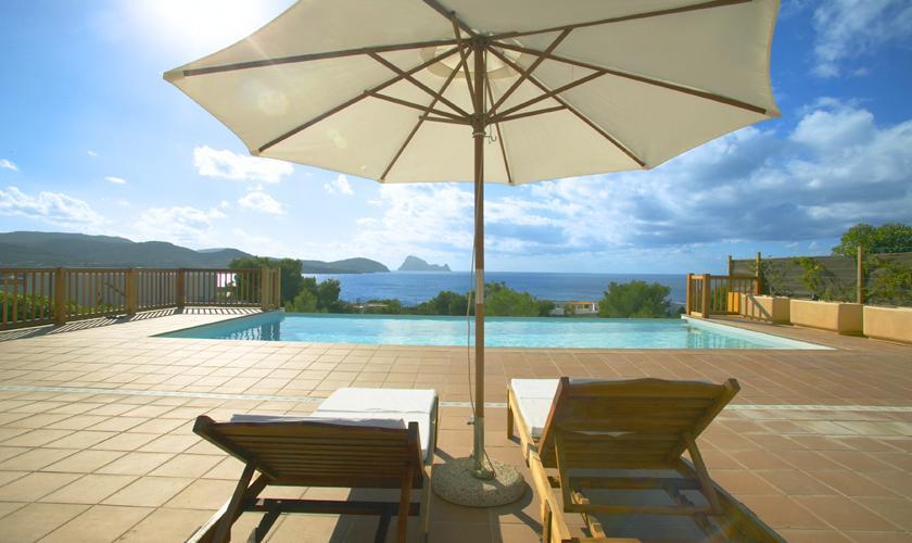 Terrasse und Meerblick Ferienhaus Ibiza für 6 Personen IBZ 55
