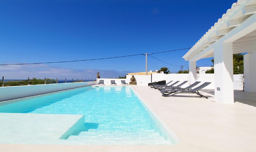 Pool und Meerblick Villa Ibiza 12 Personen IBZ 58