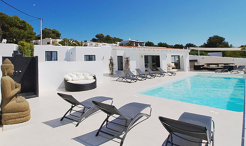 Terrasse und Pool Villa Ibiza 12 Personen IBZ 58