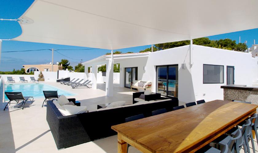 Essplatz Terrasse Villa Ibiza 12 Personen IBZ 58