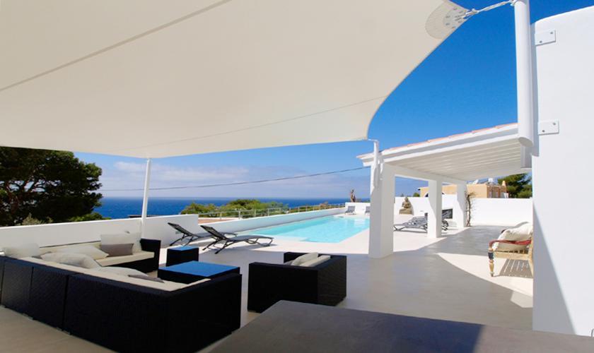 Terrasse und Meerblick Villa Ibiza 12 Personen IBZ 58