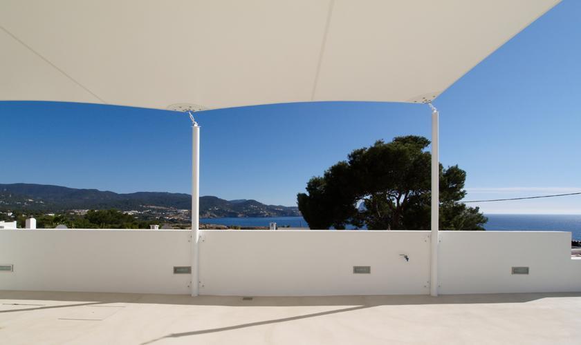 Terrasse oben Ferienvilla Ibiza 12 Personen IBZ 58