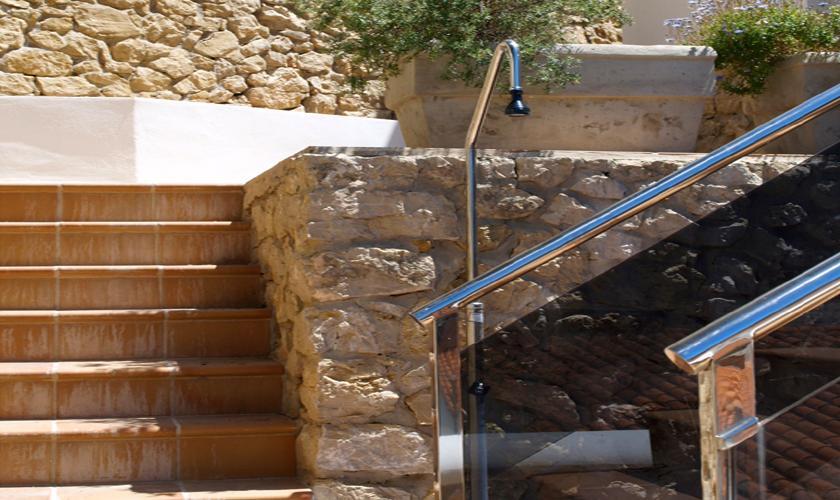 Aussendusche Ferienhaus Ibiza mit Meerblick IBZ 62