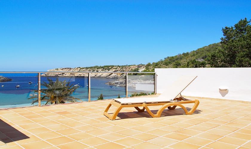 Terrasse und Meerblick Ferienhaus Ibiza IBZ 62