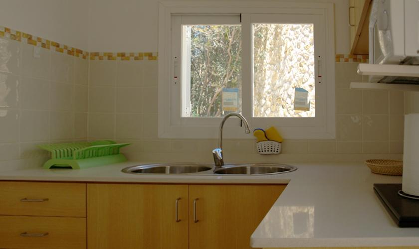Küche Ferienhaus Ibiza mit Meerblick IBZ 62