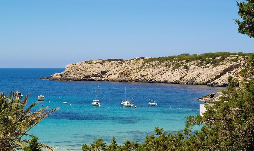 Meerblick Cala Vadella Ferienhaus Ibiza IBZ 62