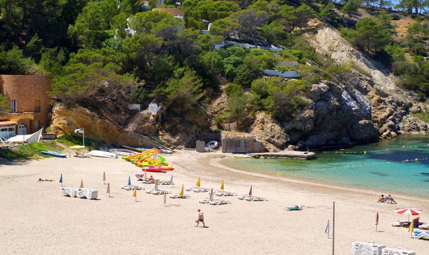 Strand bei dem Ferienhaus Ibiza IBZ 62