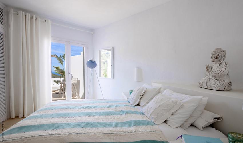 Schlafzimmer Ferienhaus Ibiza Meerblick IBZ 65