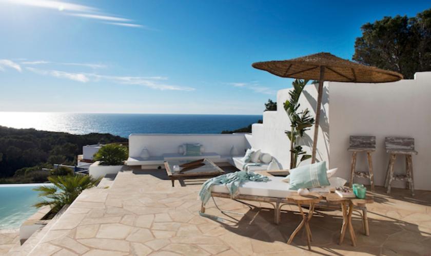 Meerblick und Pool Villa Ibiza 6 Personen IBZ 65