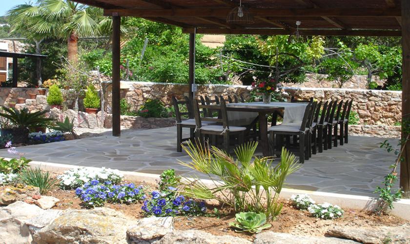 Terrasse der Finca Ibiza 10 Personen IBZ 67