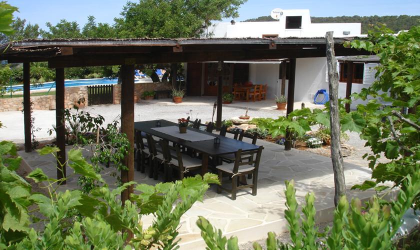 Terrasse mit Essplatz Finca Ibiza 10 Personen IBZ 67