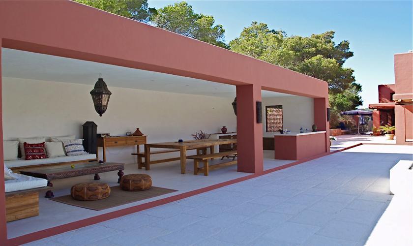 Terrasse Finca Ibiza für 12 - 14 Personen IBZ 68