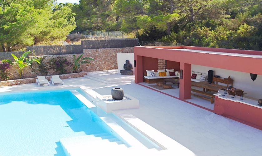 Terrasse und Pool Villa Ibiza für 12 - 14 Personen IBZ 68