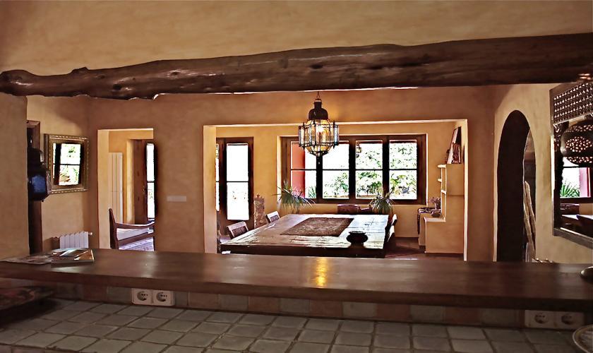 Wohnraum Finca Ibiza für 12 - 14 Personen IBZ 68