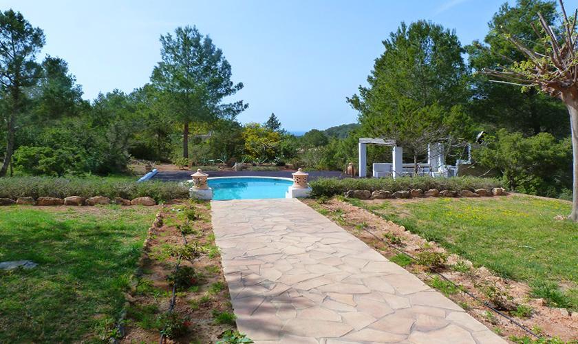 Pool und Garten Finca Ibiza 6 Personen IBZ 69
