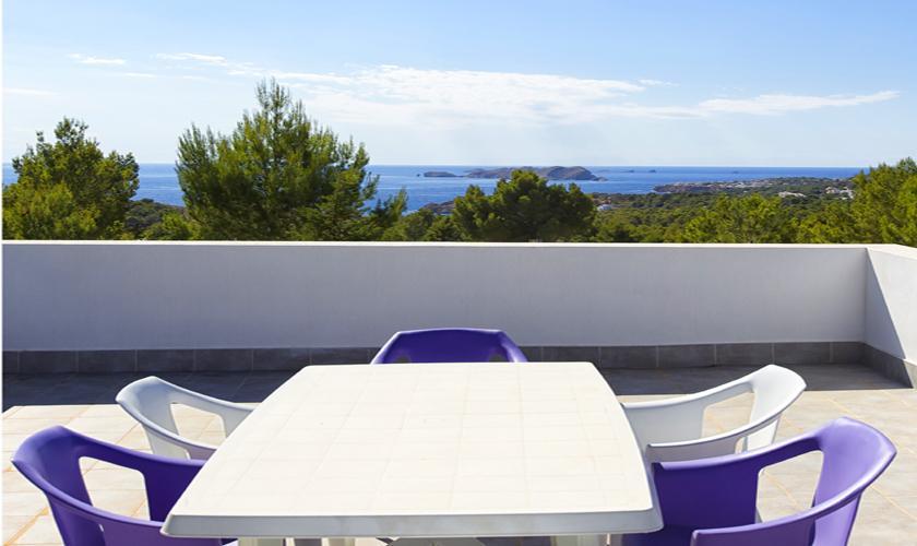 Meerblick Dachterrasse Ferienvilla Ibiza 10 Personen IBZ 70