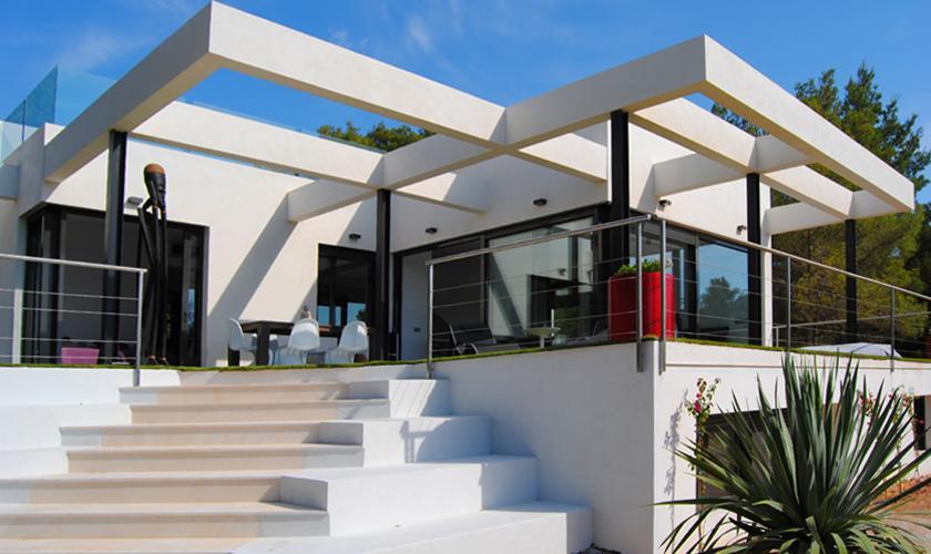 Blick auf die exklusive Villa Ibiza 10 Personen IBZ 70