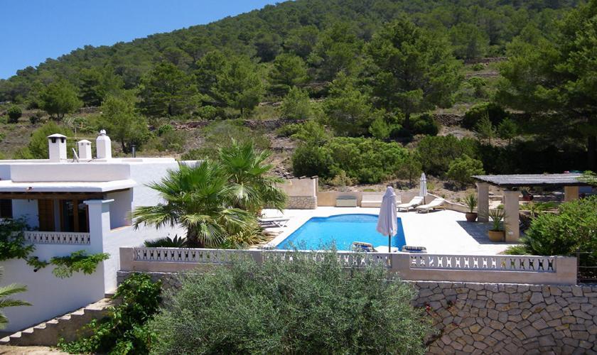 Blick auf das Ferienhaus Ibiza IBZ 76