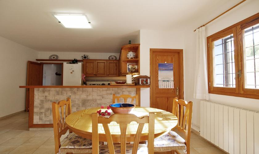 Küche Finca Ibiza mit Meerblick  IBZ 76
