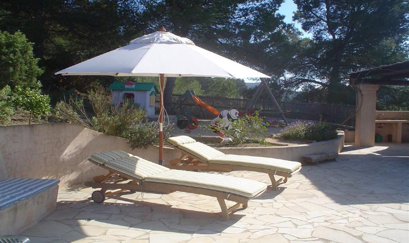 Sonnenliegen Finca Ibiza 6 Personen IBZ 76