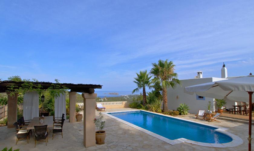 Terrasse und Pool Ferienfinca  Ibiza IBZ 76
