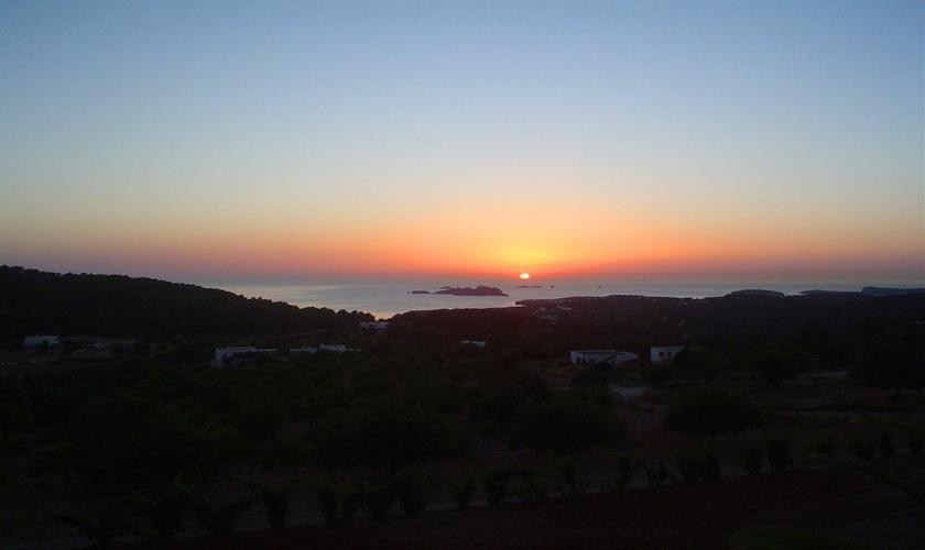 Sonnenuntergang Finca Ibiza 6 Personen IBZ 76